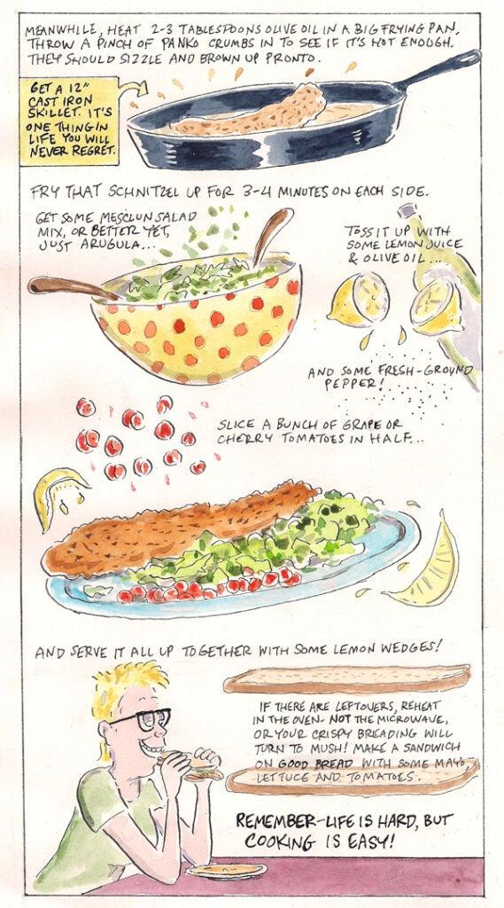 Wiener Schnitzel comic strip