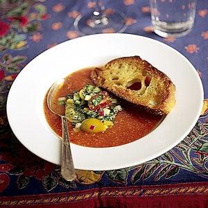 Chilled Tomato Soup, Gazpacho Style
