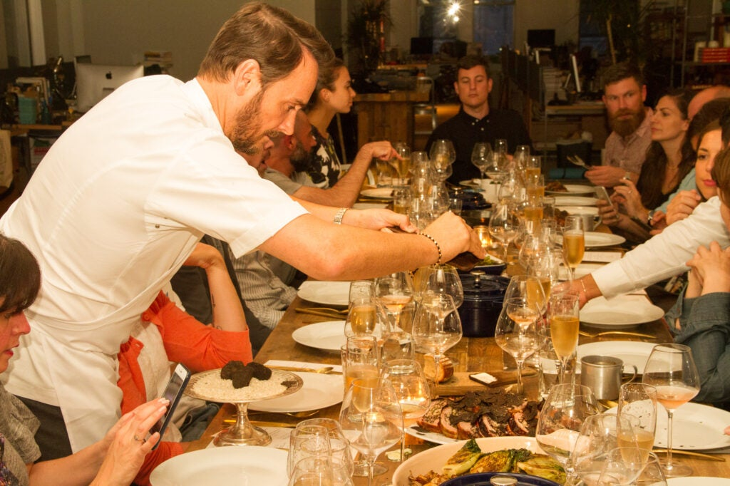 Chef Jason Atherton served this supper family-style.