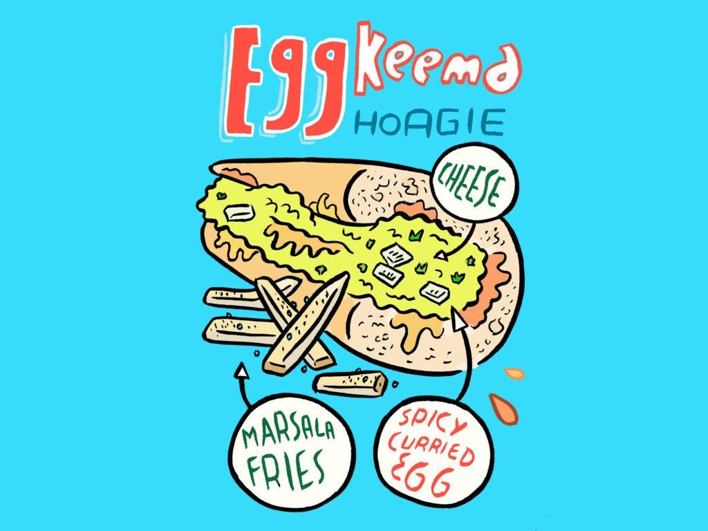 Egg Keema Hoagie