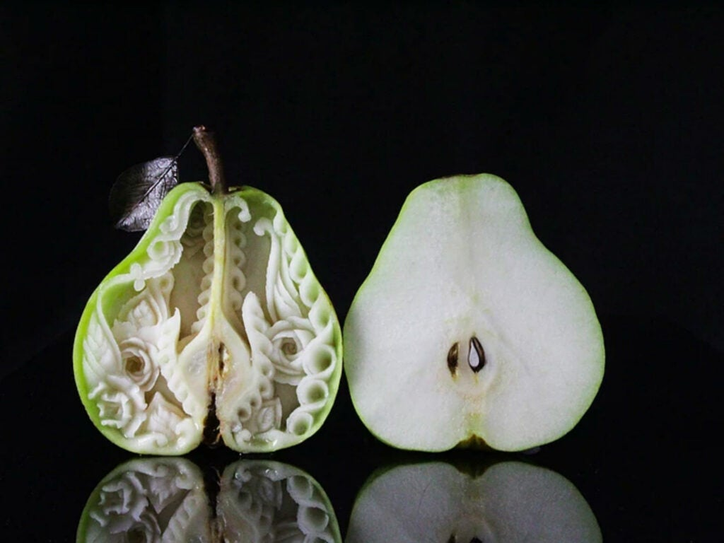 carved pear