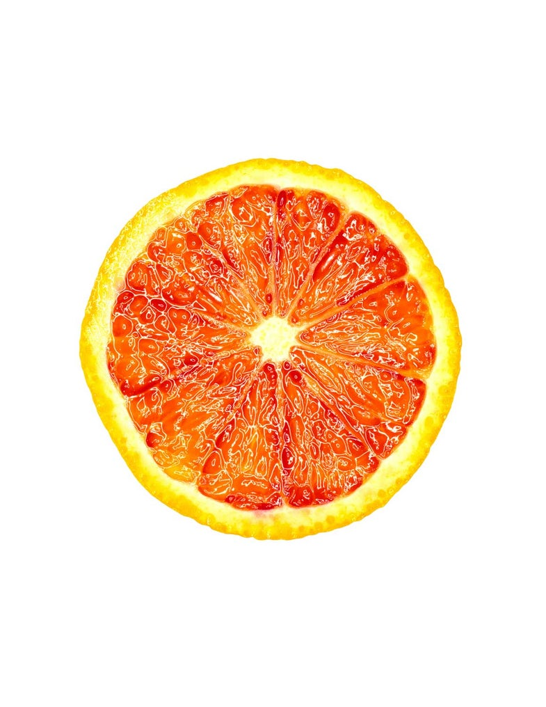 The cross section of a blood orange
