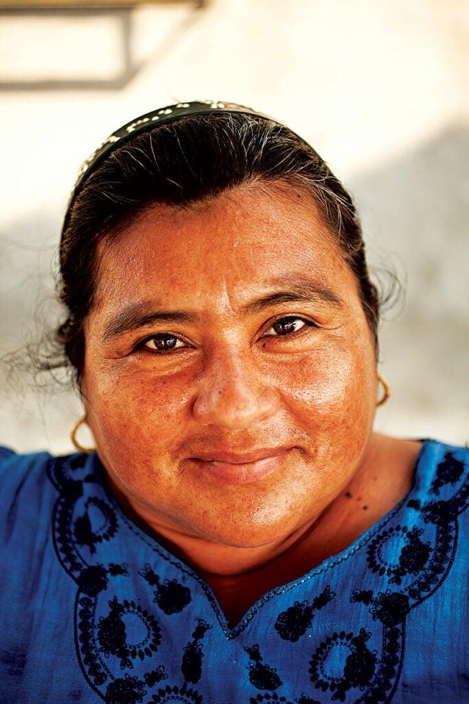 A Mexican market vendor