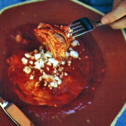 Stacked Cheese Enchiladas