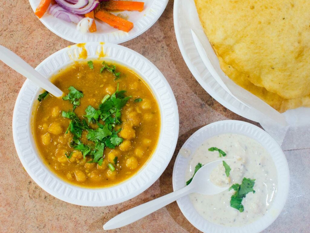 Chickpeas and fried bread at Jassi