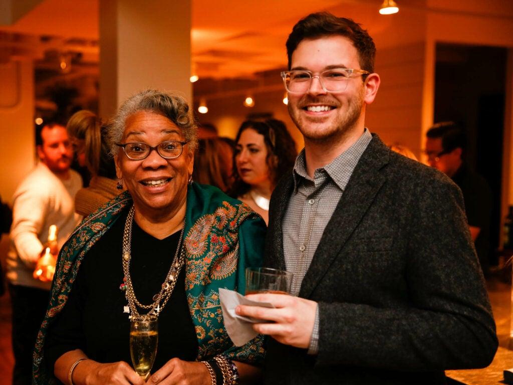 Writer Jessica B. Harris with SAVEUR associate editor Alex Testere