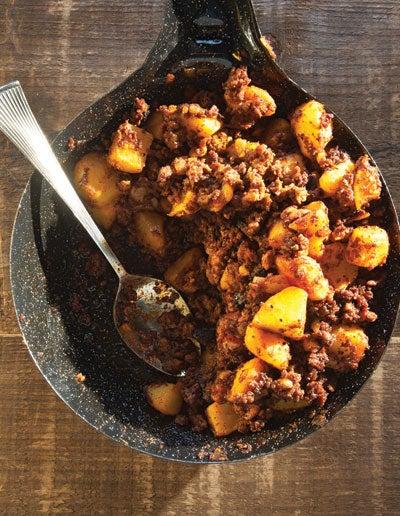 Spiced Mexican Sausage with Potatoes (Chorizo con Papas)