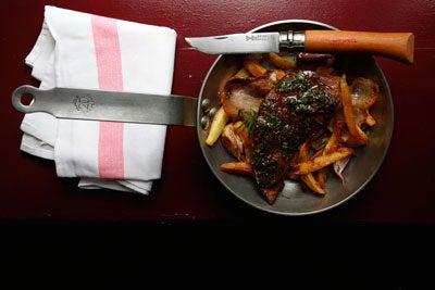 Foie de Veau en Persillade avec Pommes de Terre (Calf's Liver with Parsley, Garlic, and Fried Potatoes)