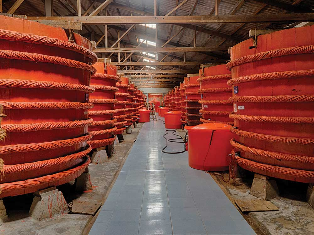 Red Boat's vermilion barrels