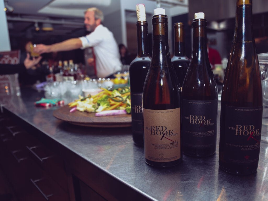 This amazing Red Hook Winery wine was perfectly paired with each course