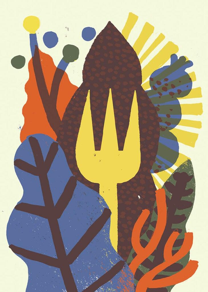 Jungle Dining forks - Illustration
