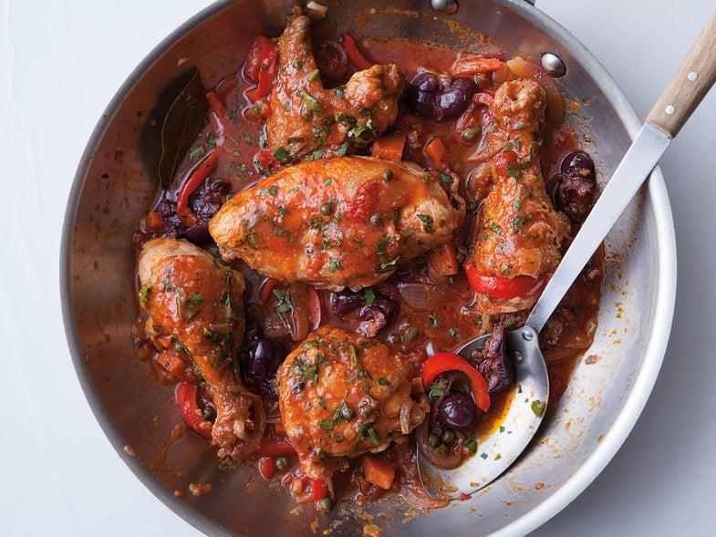 Saveur Italian Cookbook, Chicken Cacciatore