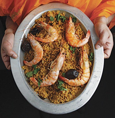 Shrimp and Rice Pilaf (Machbuss Rubian)