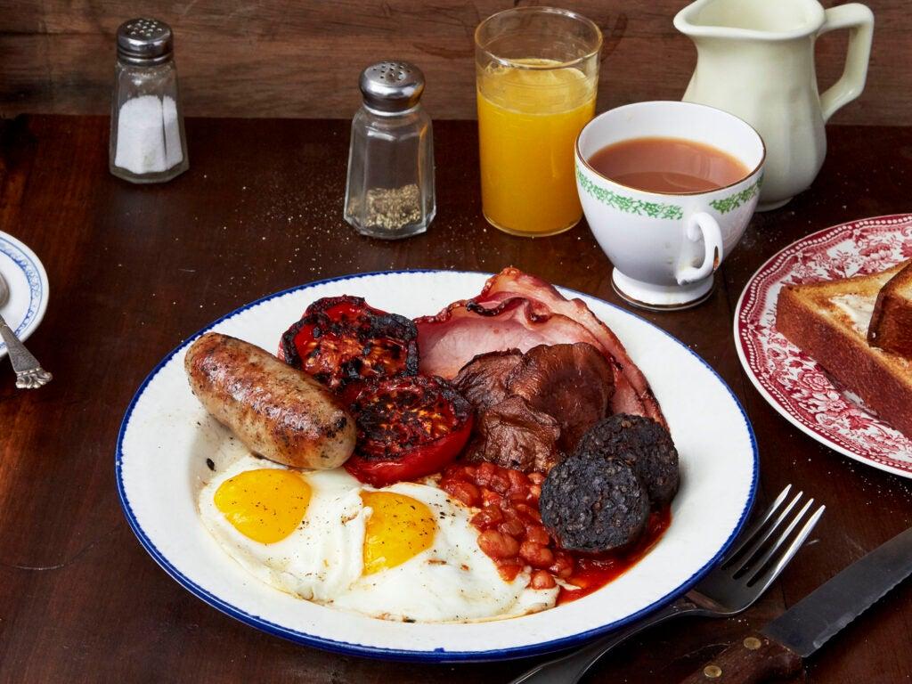 Full English Breakfast with Cumberland Sausage