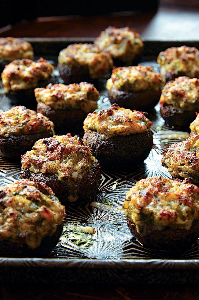 Garlic-and-Gruyere-Stuffed Mushrooms