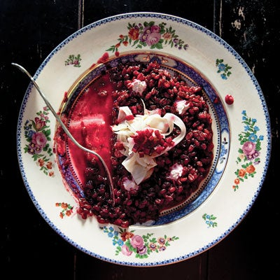 Spelt Risotto with Beets and Horseradish