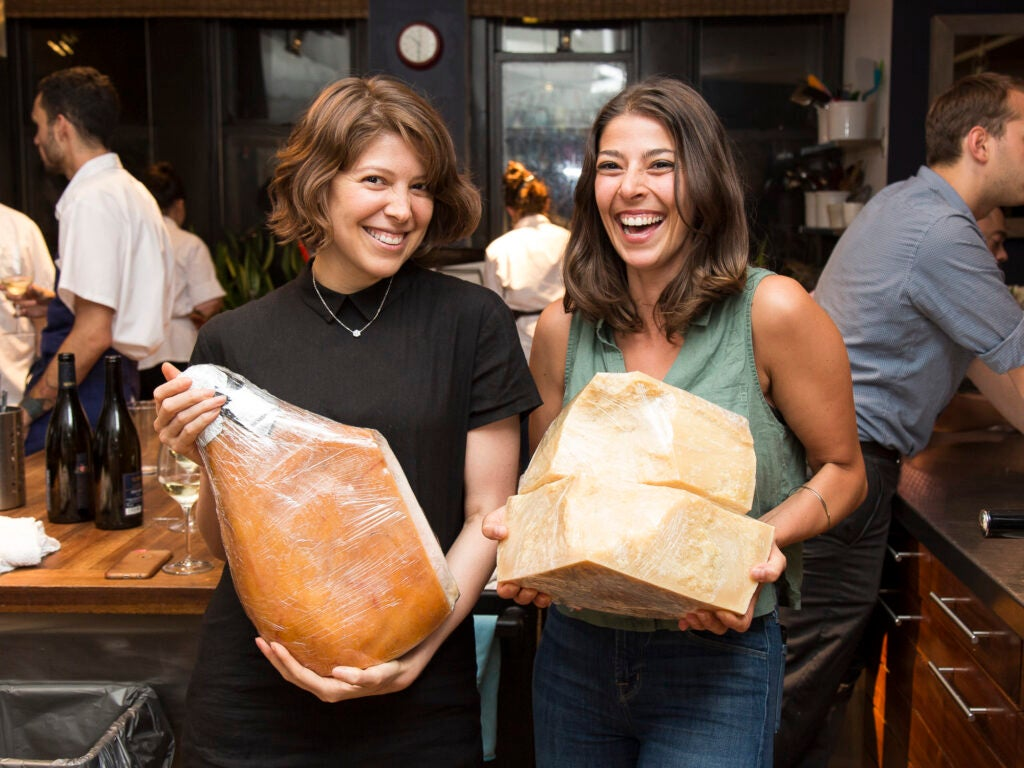 Test Kitchen Associate Kristy Mucci and Test Kitchen Director Stacy Adimando love cheese and prosciutto