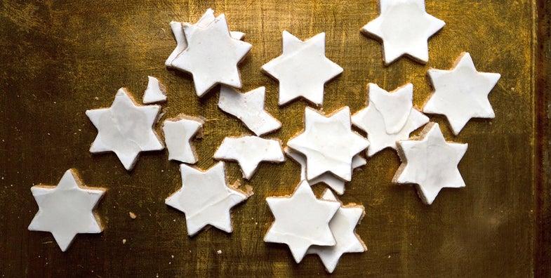 Cinnamon and Kirsch Star Cookies (Zimtsterne)