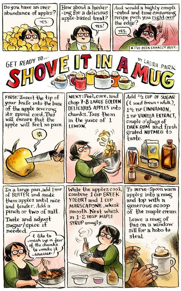 Shove It In A Mug comic strip