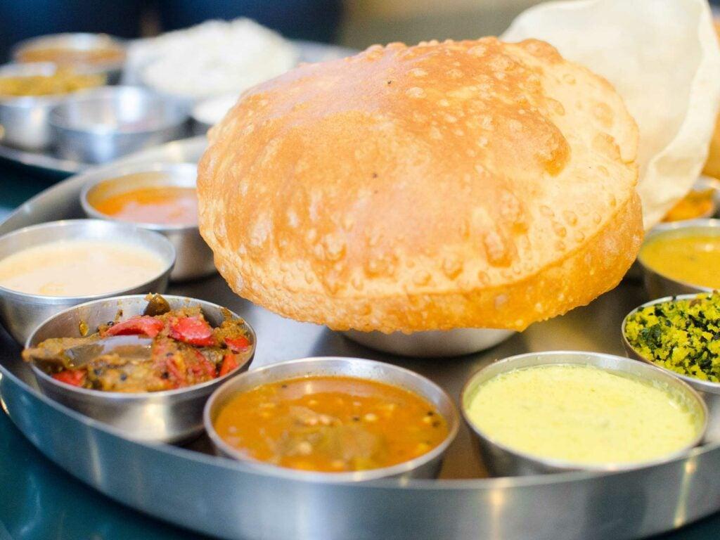 Thali with Puri