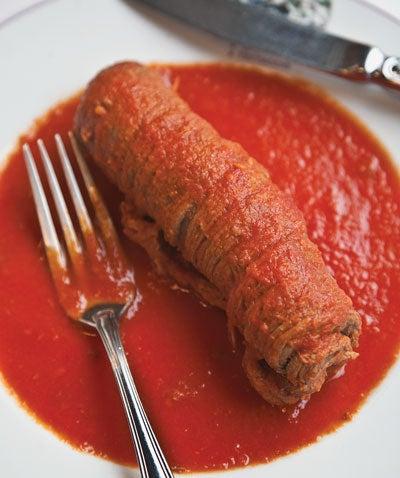 Stuffed Beef in Tomato Sauce