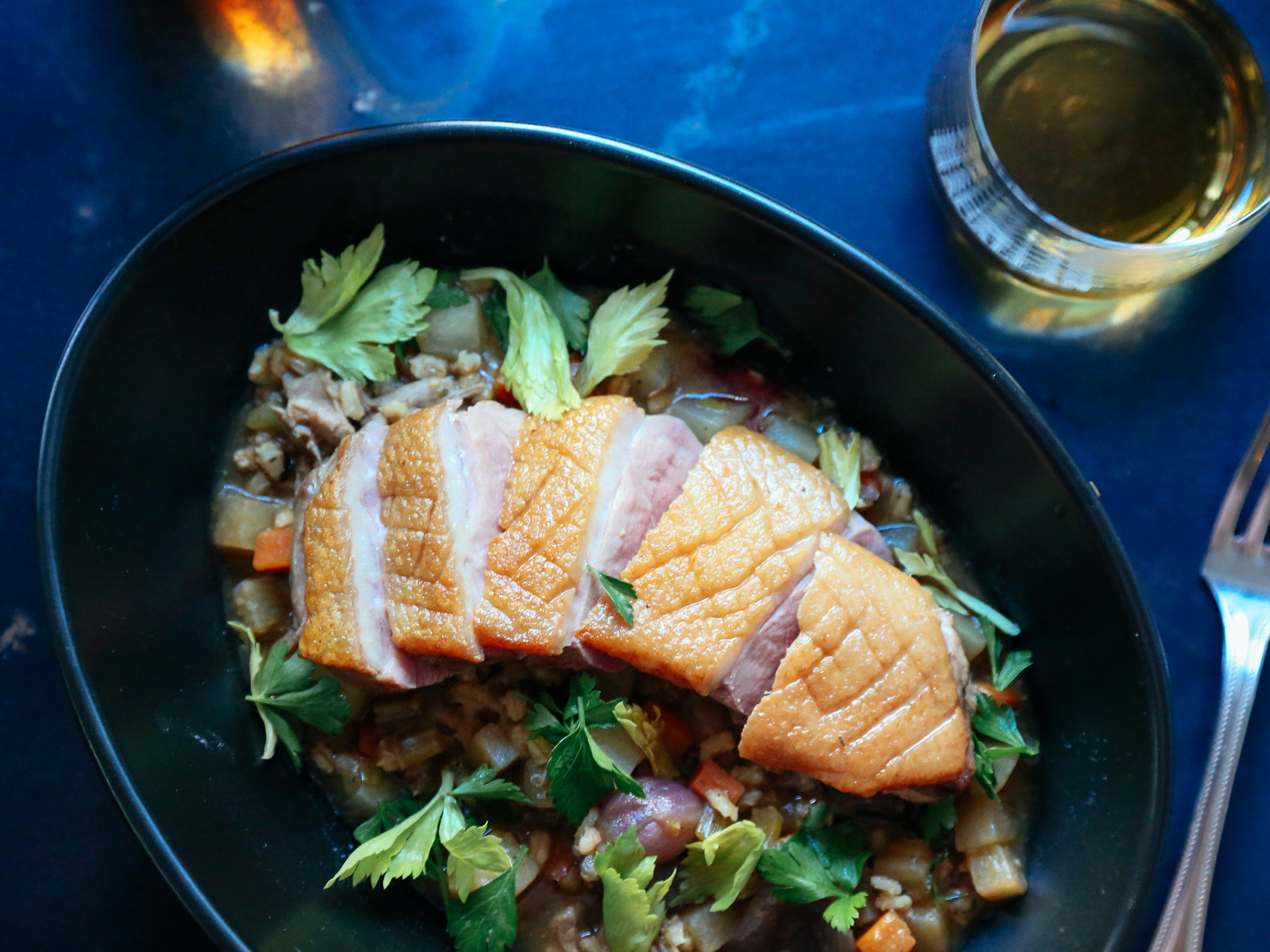 Pan Roasted Duck Breast with Scotch Broth