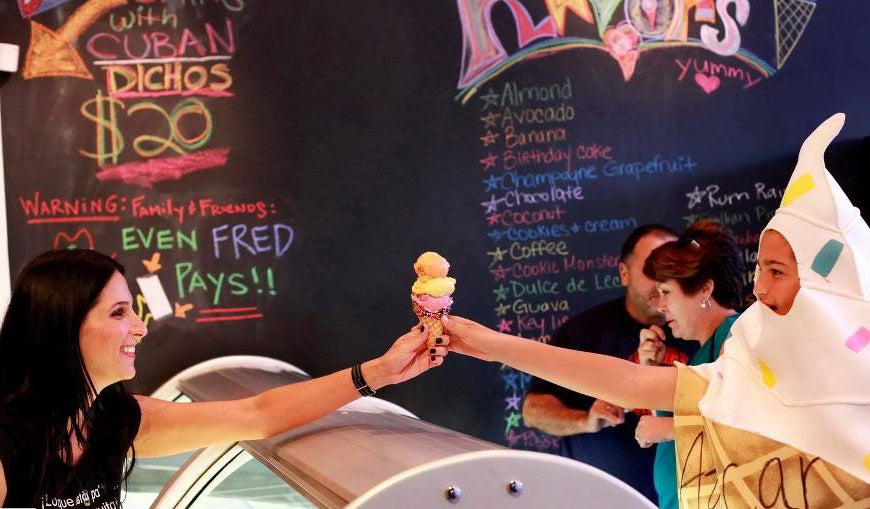 Suzy and Mascot Ice Cream