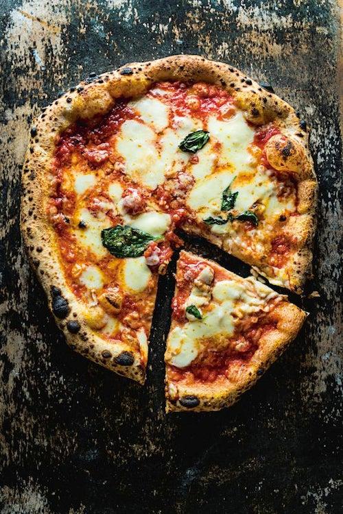 Pizza Margherita (Tomato, Basil, and Mozzarella Pizza)
