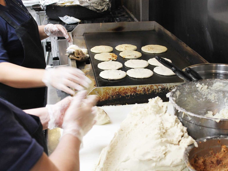 Follow D.C.'s Pupusa Trail to Cheesy Griddled Happiness