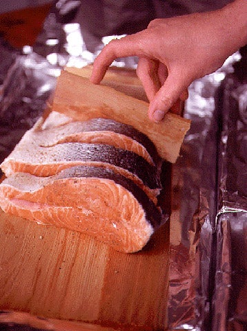 Cooking Cedar Plank Salmon