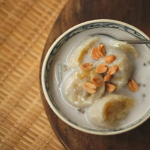 Banana, Coconut, and Tapioca Pearl Soup