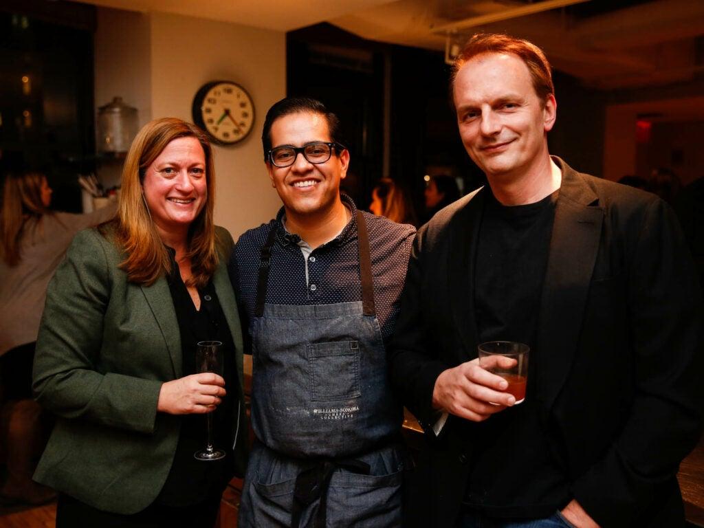 Chef Missy Robbins of Lilia, chef Michael Toscano, and restaurateur Andrew Carmellini
