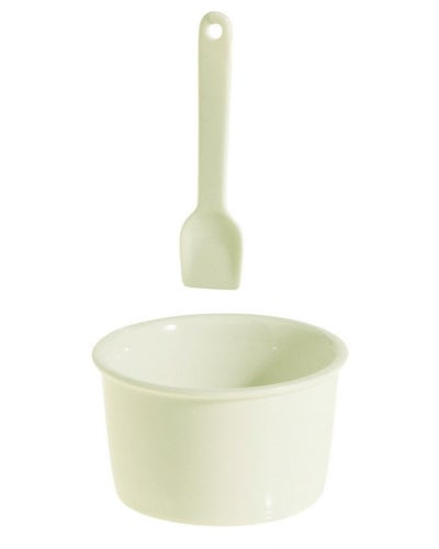 Porcelain Gelato Cup and Spoon