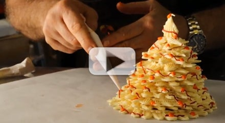 Master Class: How to Make a White Chocolate Christmas Tree