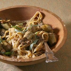 Fettuccine with Artichokes and Chicken