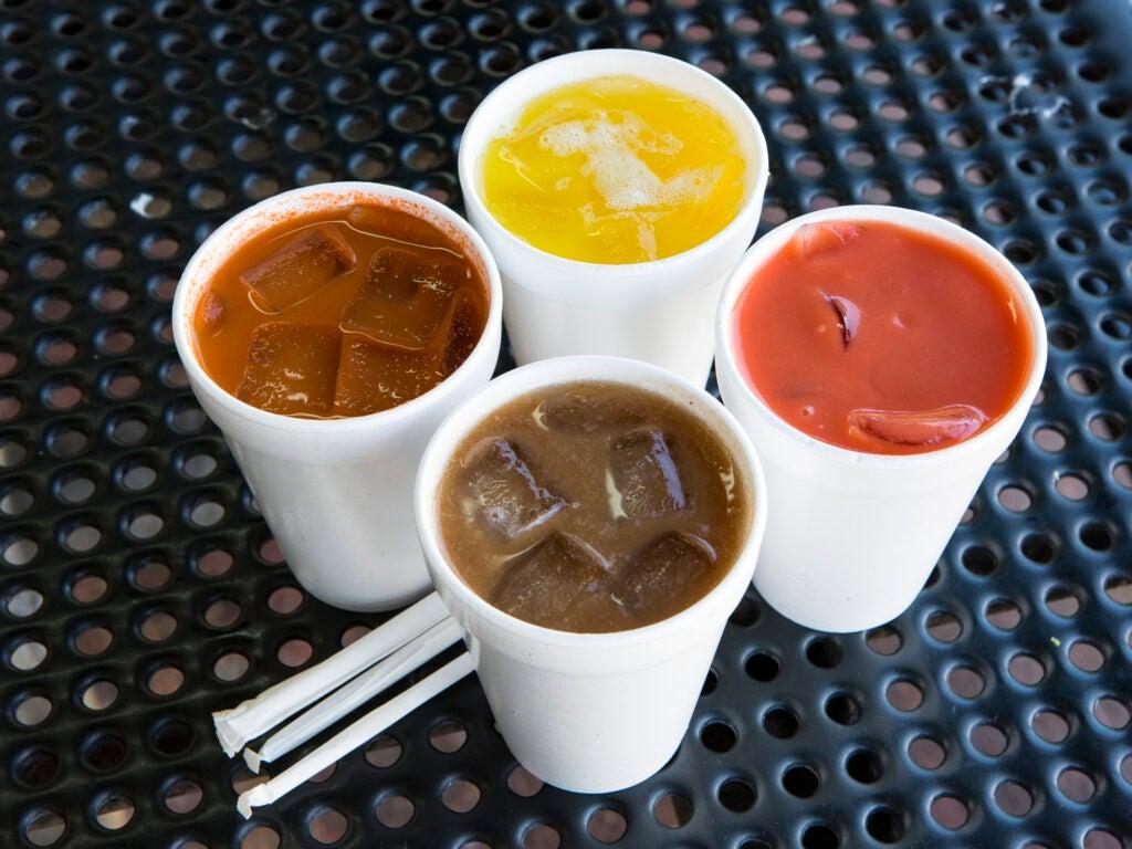 Tamarindo, Zanahoria, Pina and Mamey Juices