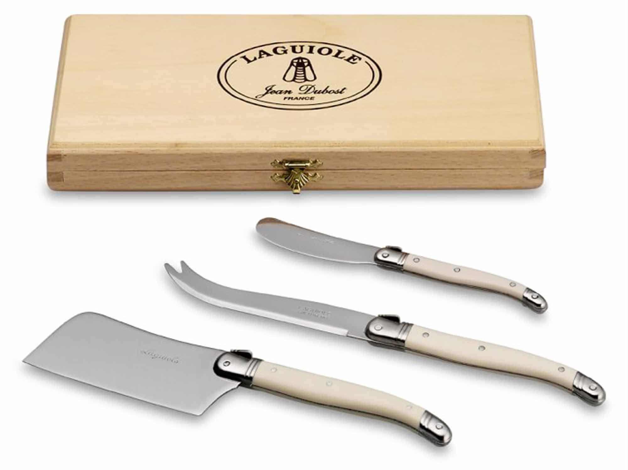 Laguiole cheese knife set