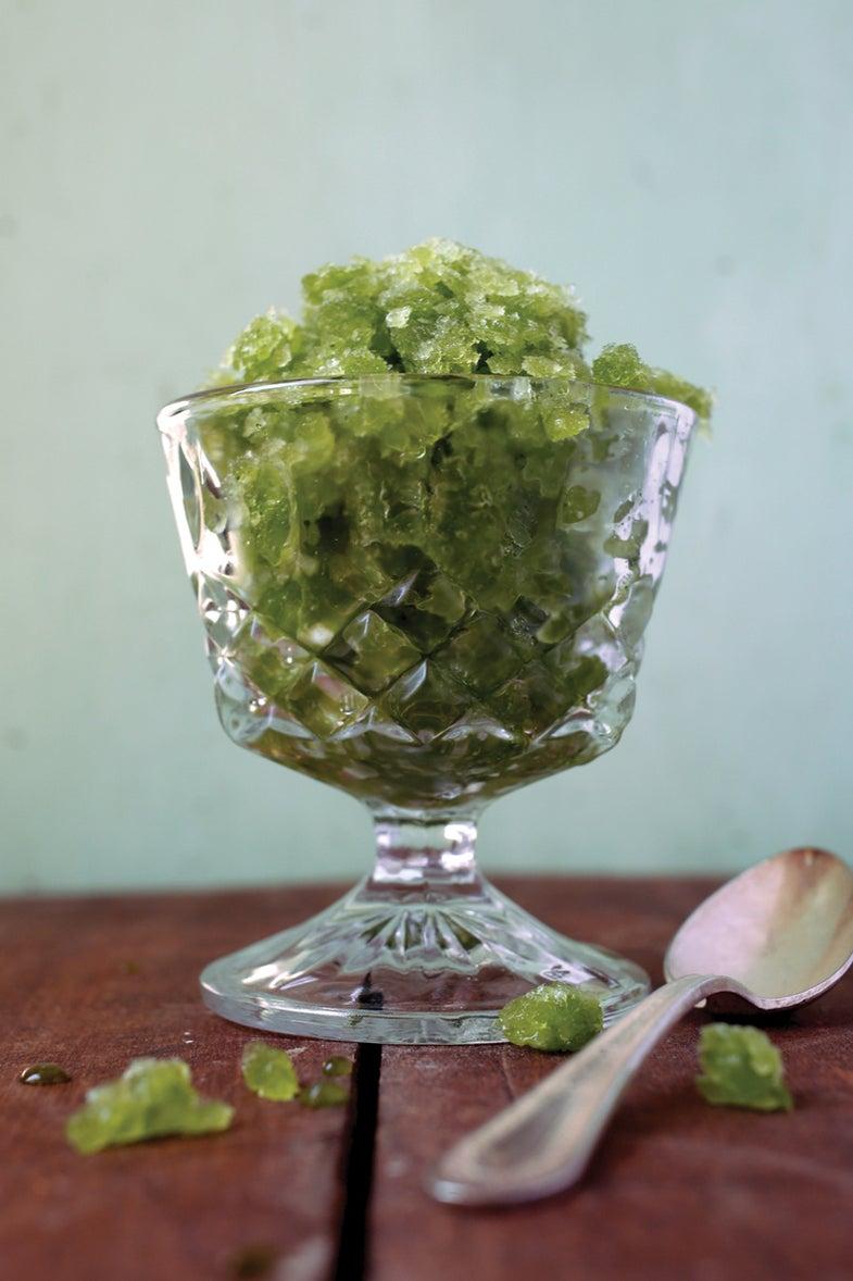 wasabi mint granita