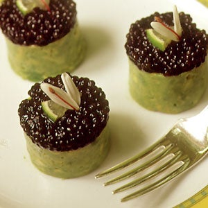 Timbale of Osetra Caviar, Crabmeat, and Avocado