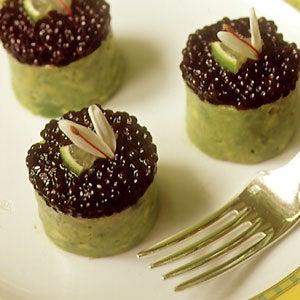 Timbale of Osetra Caviar, Crabmeat, and Avocado