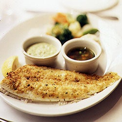 Sole Roasted with Seasoned Bread Crumbs