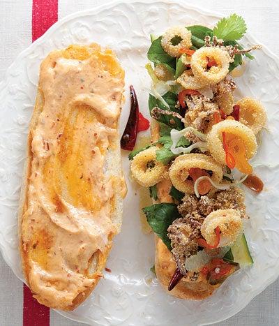 Fried Calamari Sandwich