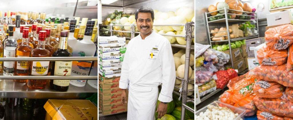 Chef Raf's walk-in's are filled to the brim with every ingredient imaginable