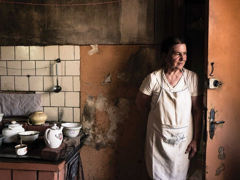 Ruta Gailīte, the town baker of Aloja, Latvia, at home in her kitchen.