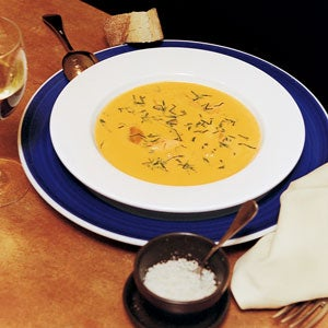 Light Mussel and Pumpkin Soup