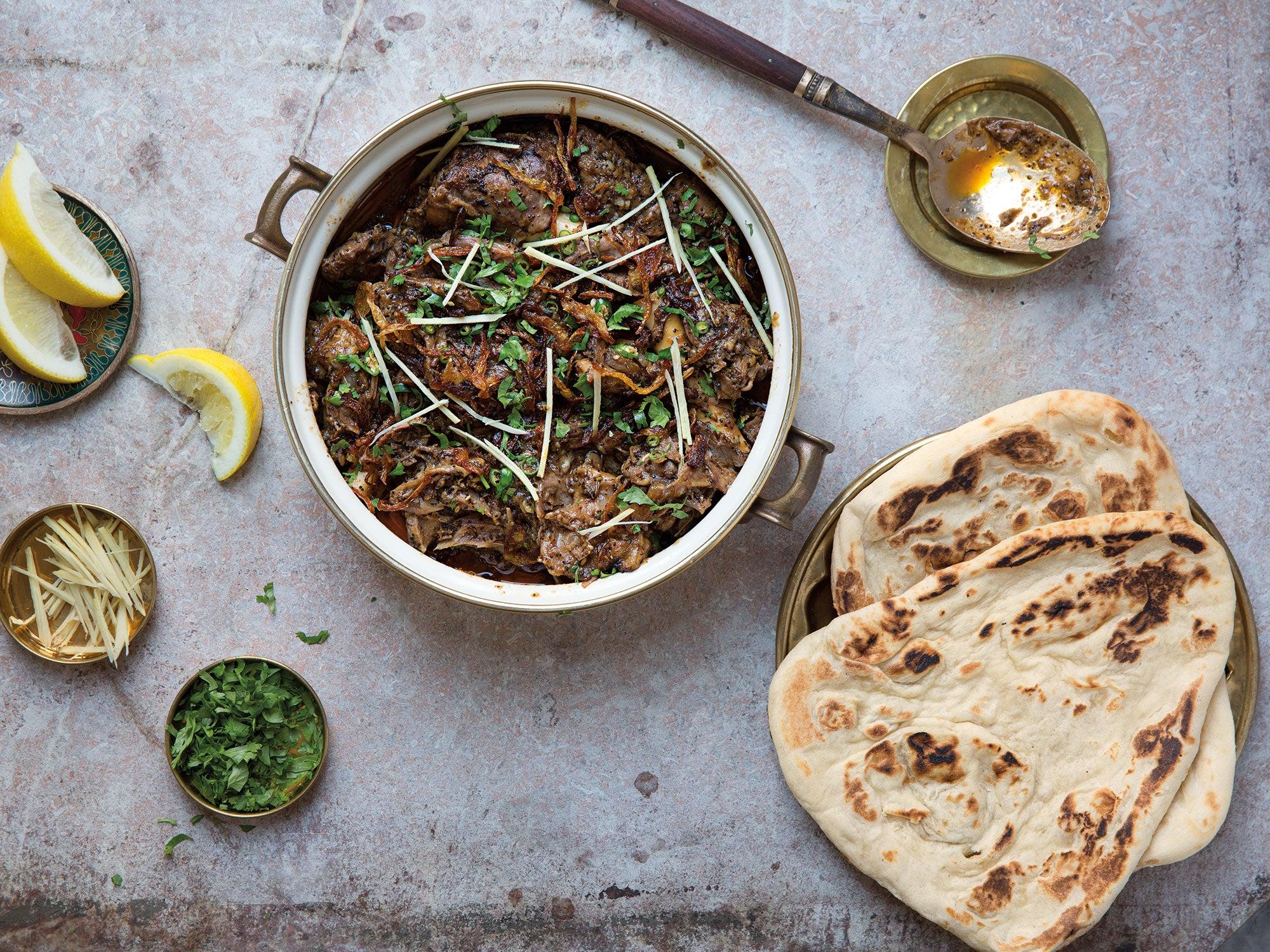 Pakistani Slow-Cooked Lamb Stew (Dumbay Ki Nihari)