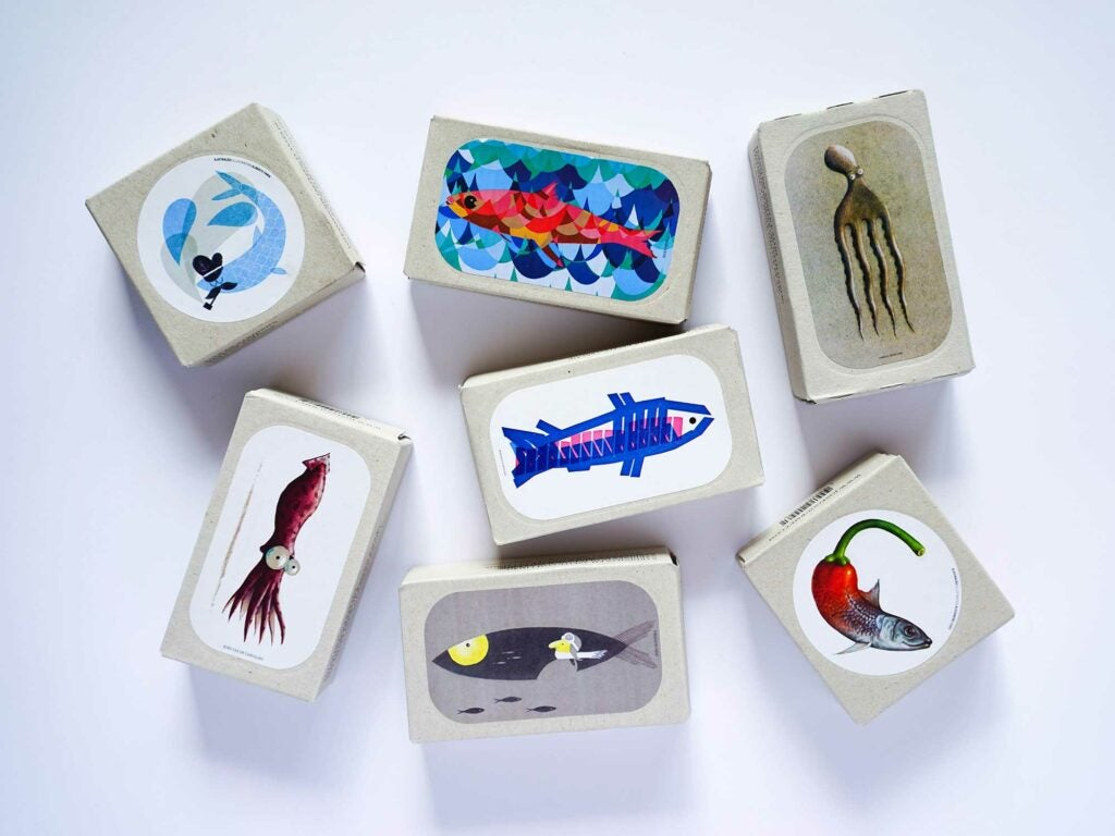 Fancy packaging for delicious tinned fish