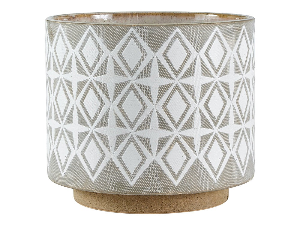 Amazon Brand – Rivet Geometric Ceramic Planter, 8.7