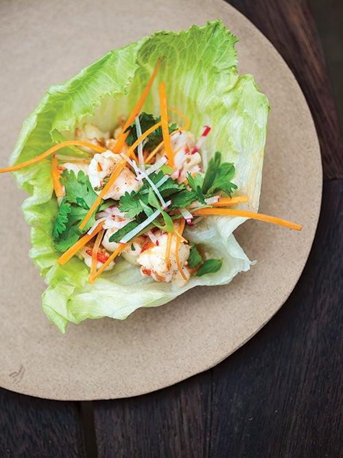 Grilled Shrimp Lettuce Cups