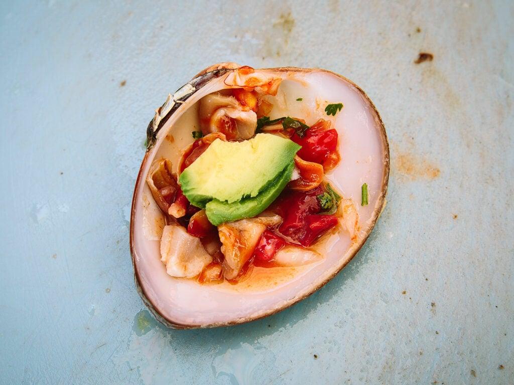 clam ceviche